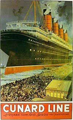 Cunard Line, Liverpool - New York - Boston