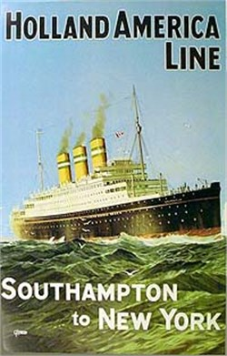 Holland America Line, Southampton to New York